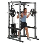 Body-Solid Pro Power Rack + Lat Attach. + Weight