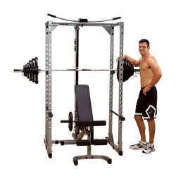 Powerline Power Rack + Lat Attach + Universal Bench